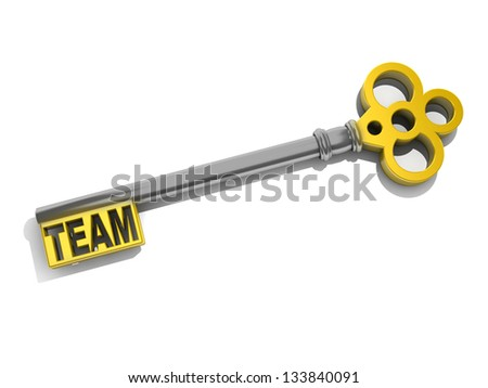 """a keys with words """"team"""" business concept - stock photo"""