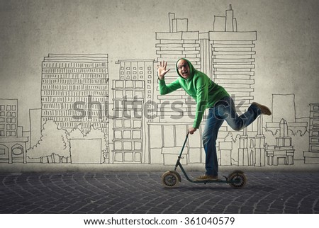 A kid inside - stock photo