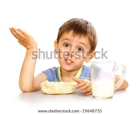 A kid's breakfast - stock photo