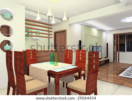 a kind of interior design plan (living room)