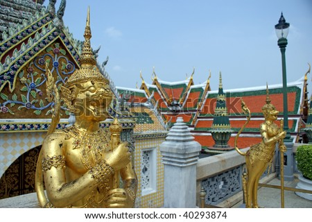 A kind of mythological creature in Grand Palace in Bangkok