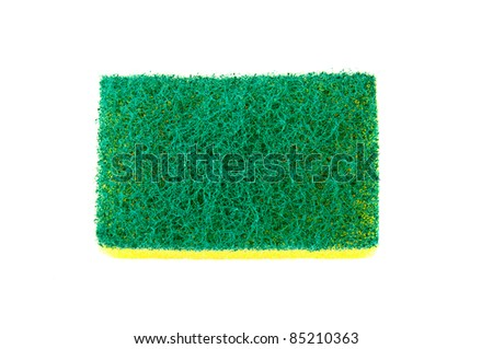 A kitchen sponge isolated on the white background - stock photo