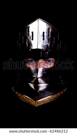 A knights head. - stock photo