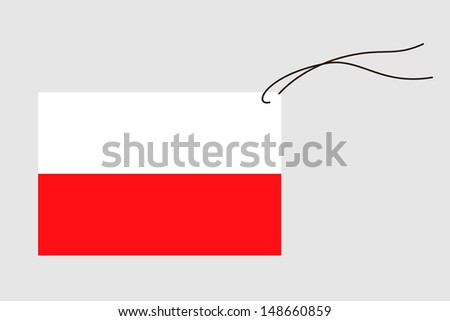 A label with string of the flag of Poland