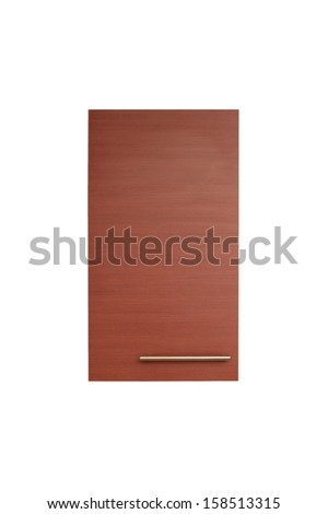 A laminate door isolated against a white background - stock photo