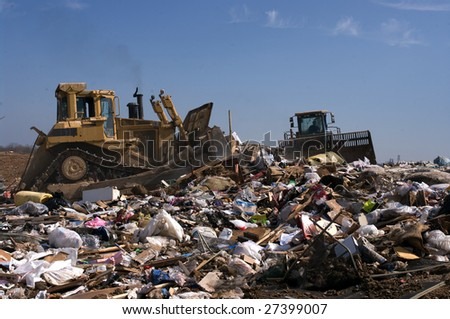 A landfill in the US - stock photo