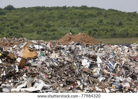 A landfill site - stock photo