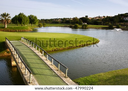 A Landscape of a golf course.