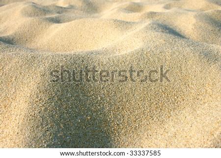 a landscape of sand - stock photo