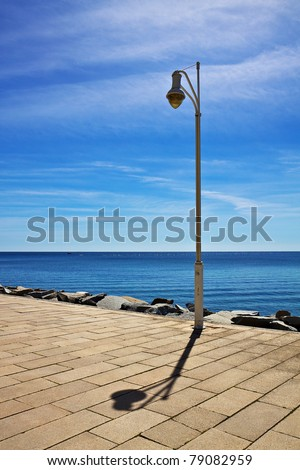A lantern at the pier in Sassnitz.