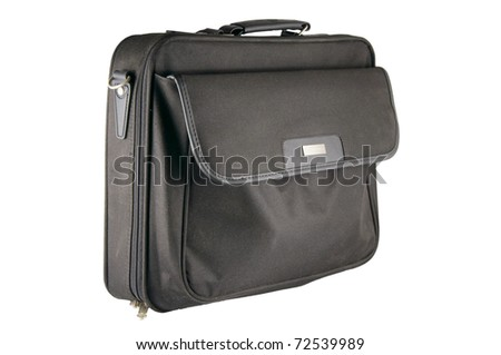 a laptop bag isolated on a white background - stock photo