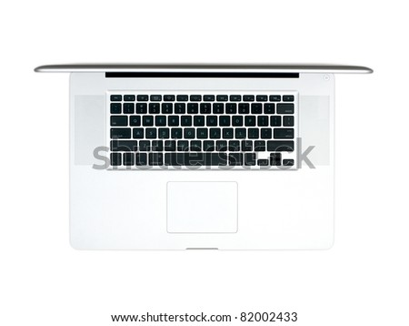 A laptop computer on a work desk