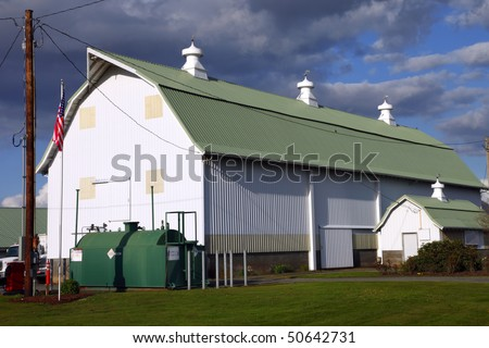A large barn. - stock photo