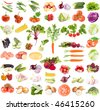A large collection of fresh vegetables isolated on a white background - stock photo