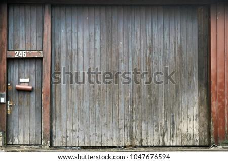 Large Faded Barn Door Front Door Stock Photo Royalty Free