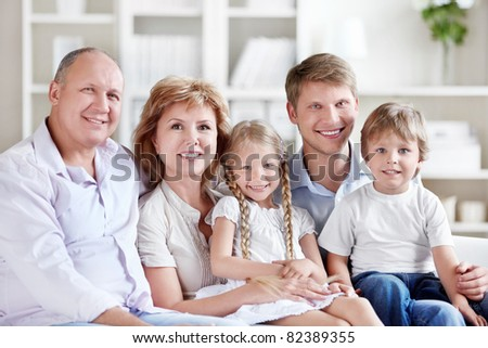 A large family with children at home