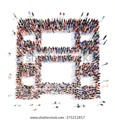 Large Group People Form Films Frame Stock Illustration 275212817 ...