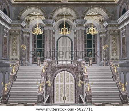 Grand staircase stock photos images pictures for Grand entrances