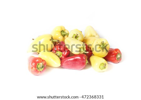a large pile of beautiful ripe fresh pepper