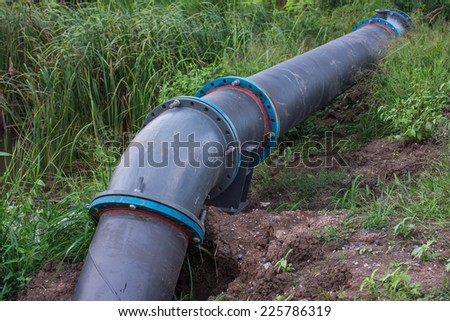 A large pipe  - stock photo