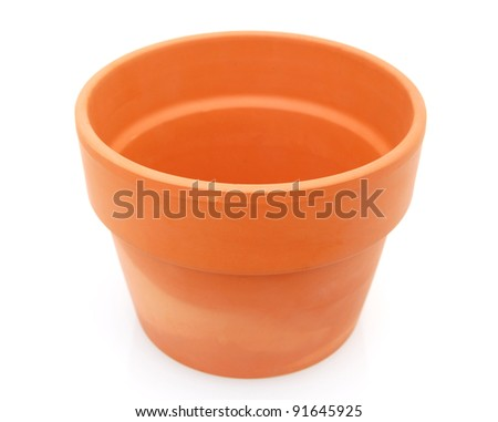 A large planting pot in gardening - stock photo