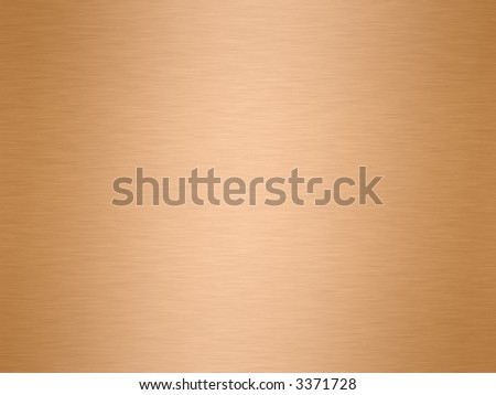 a large sheet of rendered polished and brushed copper as a background - stock photo