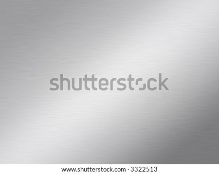 a large sheet of rendered polished and brushed silver metal as background - stock photo