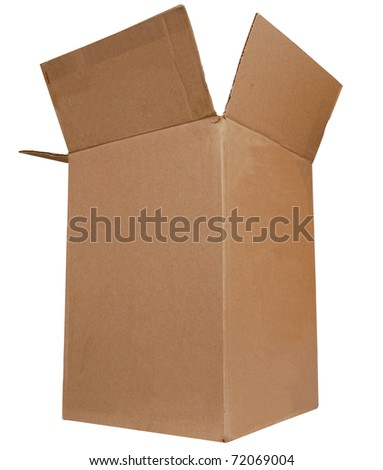 A large size of carton box isolated white - stock photo