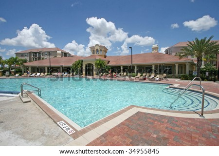 A Large Swimming Pool in Sunny Florida