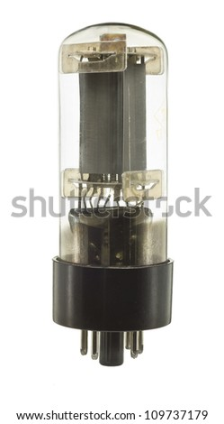 A large vacuum tube on a white background. - stock photo