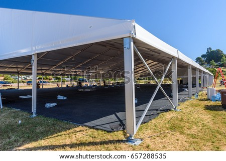 A large white tent in a grass field for parties and entertaining & Large White Tent Grass Field Parties Stock Photo 422185636 ...