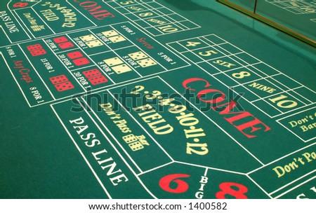 A Las Vegas casino craps table layout - stock photo