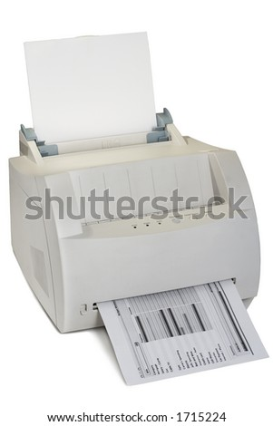 A Laser Printer on a white background