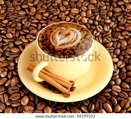 A latte or a cup of mocha - stock photo