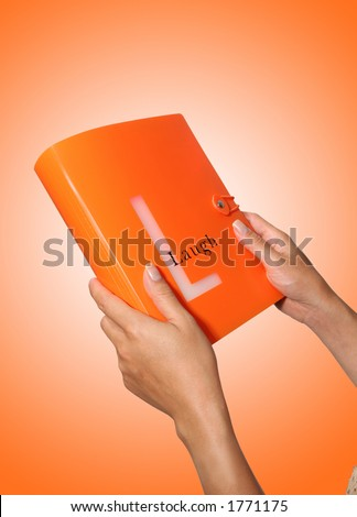 A Laugh themed photo book - stock photo