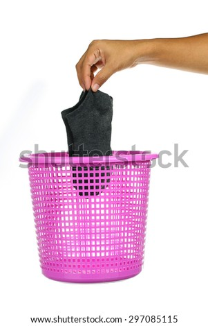 A Laundry basket on home care - stock photo