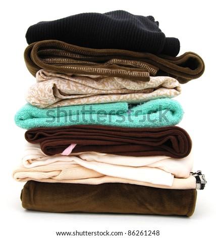 A laundry clothing pile - stock photo