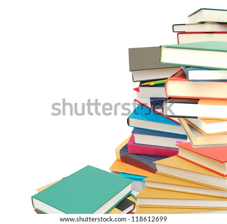 A learning workbooks concept - stock photo
