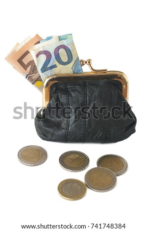 stock-photo-a-leather-coin-purse-with-eu