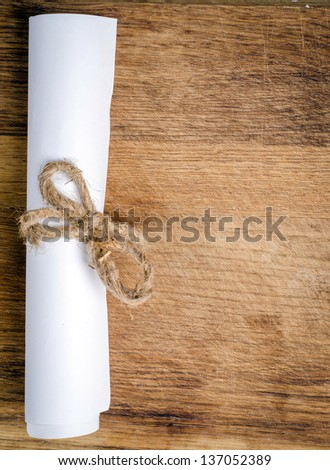 a letter on wooden desk - stock photo