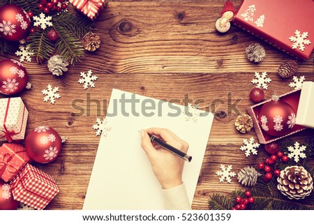 a letter to Santa Claus, Christmas gifts