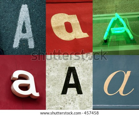 A letter - Urban collection - stock photo