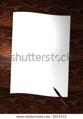 A letter waiting to be written - border/background - stock photo