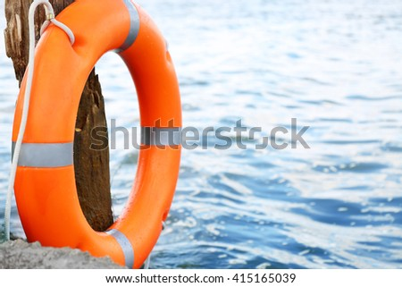 A life buoy hanging on the stock