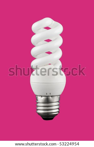 A light bulb isolated on a solid color background. - stock photo