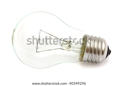 A light bulb isolated on white background