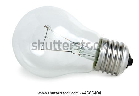A light bulb on white background.