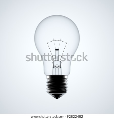 A light bulb with the white background.