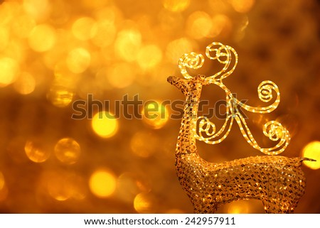 a lighted deer on the neon background. - stock photo