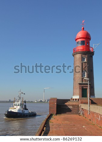 a lighthouse in Bremerhaven, Germany - stock photo
